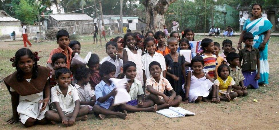 Peryar Nagar, Teacher Chandramathi with her students