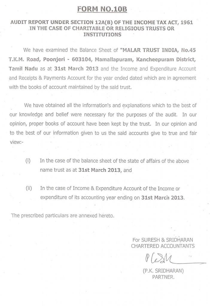 Audit 10B form 2012-13